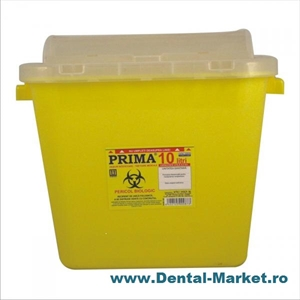 Imaginea Recipient cutie 15 litri Plastic Deseuri Intepatoare Taioase