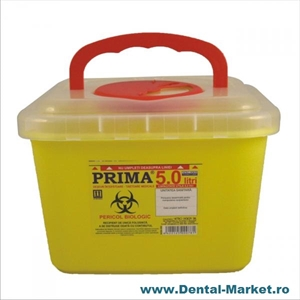 Imaginea Recipient cutie 5 litri Plastic Deseuri Intepatoare Taioase