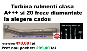 Imaginea Super oferte: Turbina rulmenti clasa A+++ si 20 freze diamantate la alegere cadou